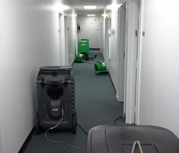 Hall with dryers