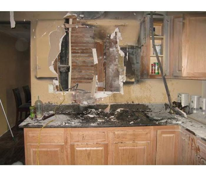 Kitchen after fire