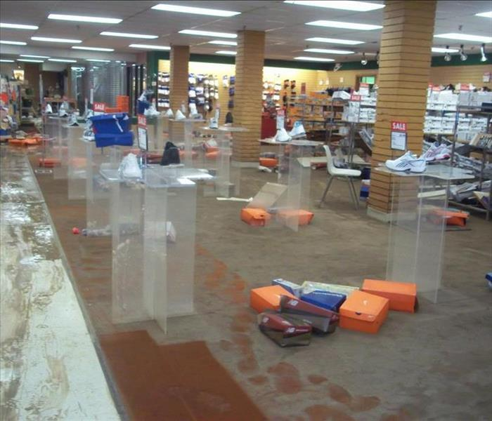 Water in retail space