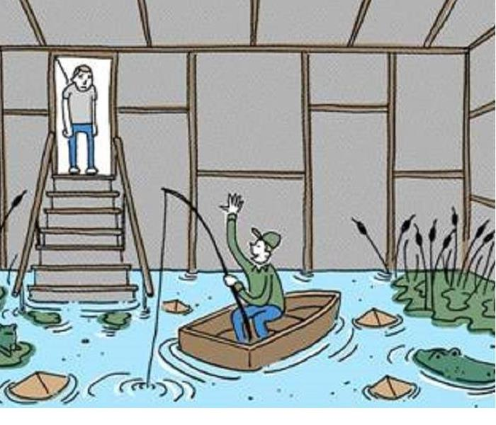 Water Damage Flooded Basement Service and Causes